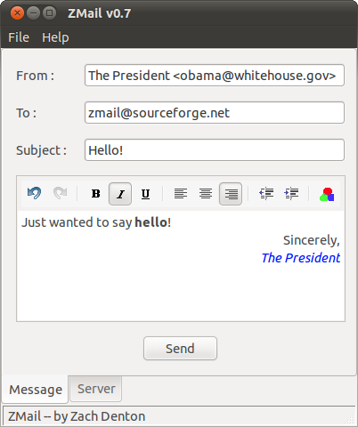 Open source program which sends fake emails.